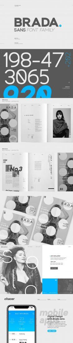 Brada sans – A designers font family