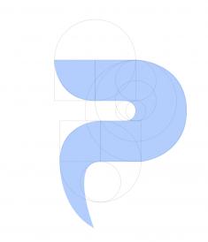 P Logo lettering by Huang Xiaoqi