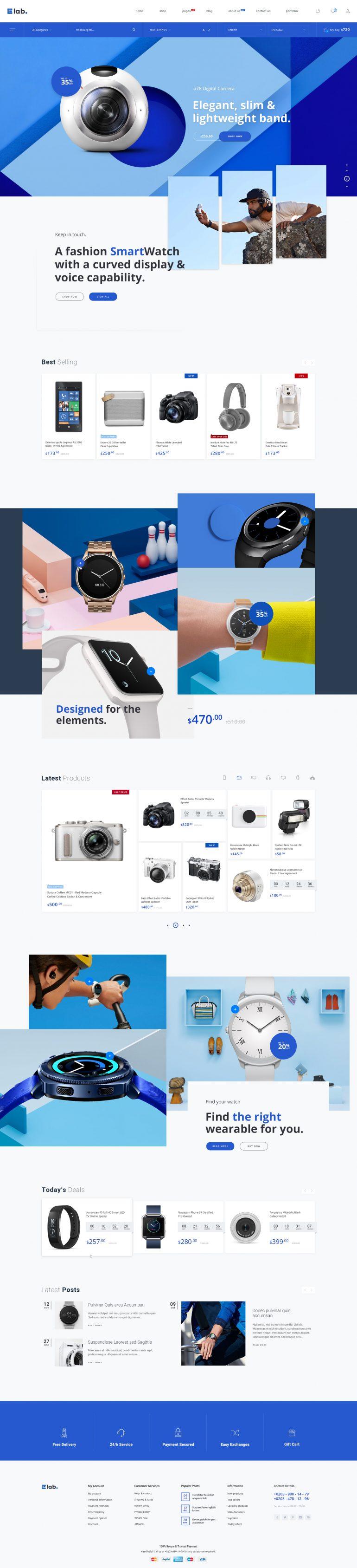 E-lab – eCommerce PSD Template by MarekMnishek