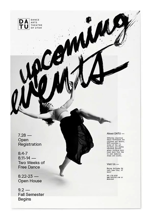 Upcoming Events Dance Poster