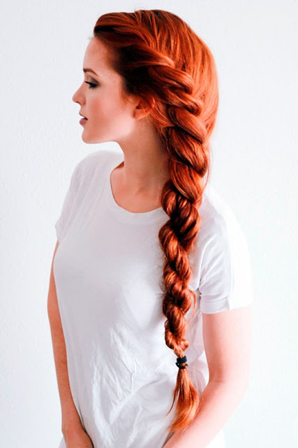 Long Rope Braid hairstyle idea