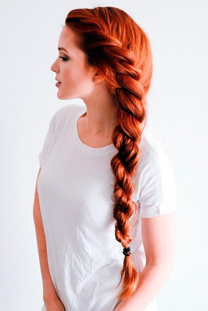 Long Rope Braid hairstyle idea