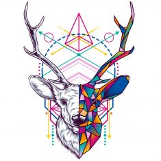 Deer – Geometric Animal Series