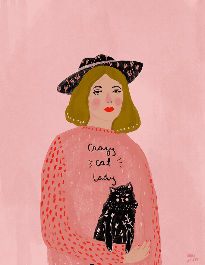 Illustrated Ladies (and lots of pink) by Holly Jolley