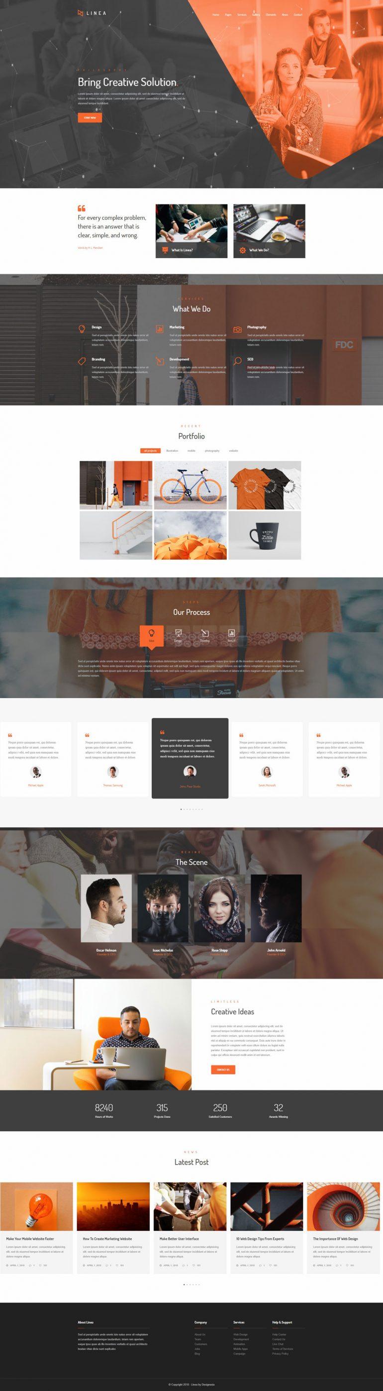 Linea – Creative Multipurpose Website Template