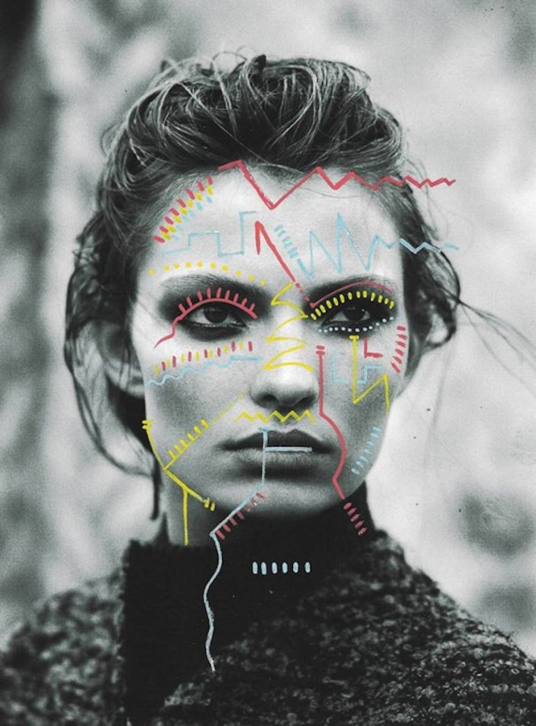Matthieu Bourel Mixed Media Collages