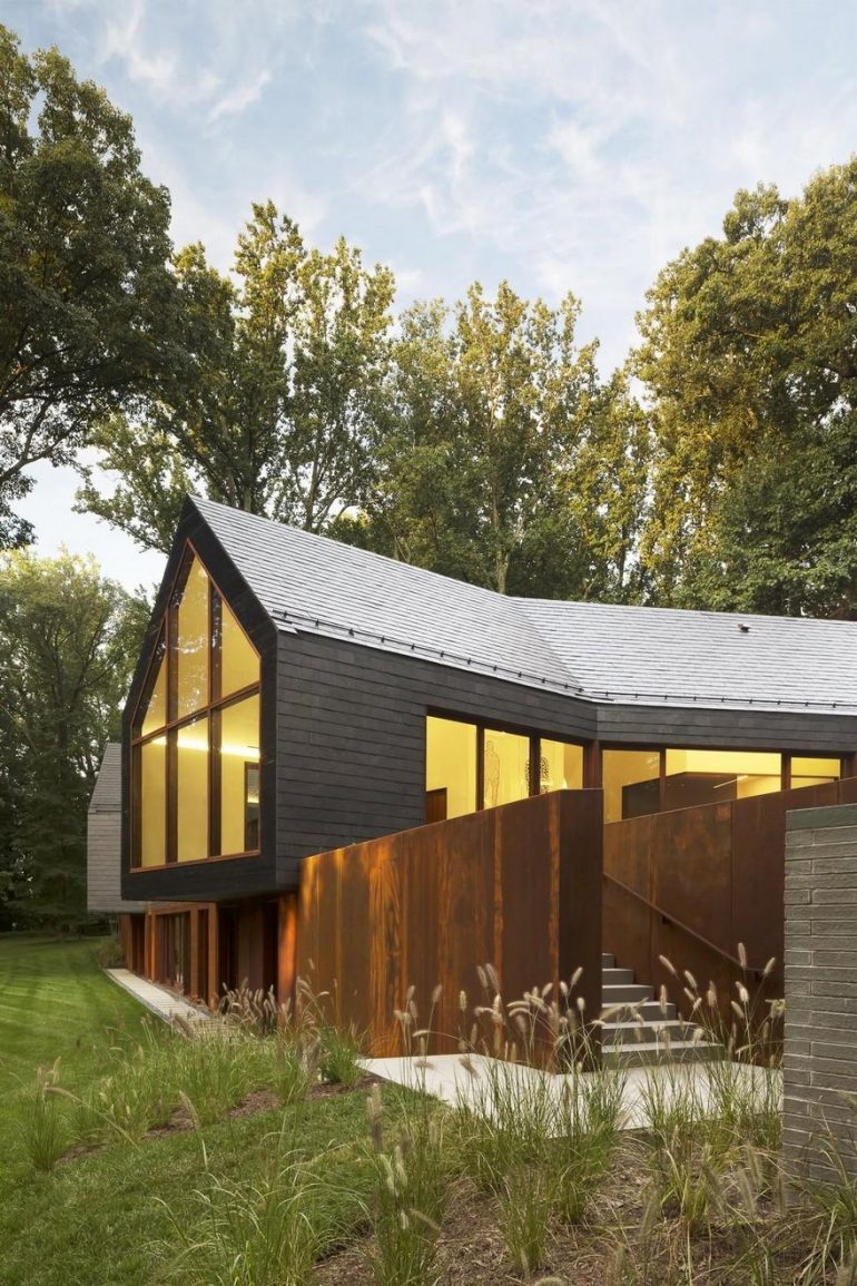 Slate House in a Maryland Forest by Ziger/Snead