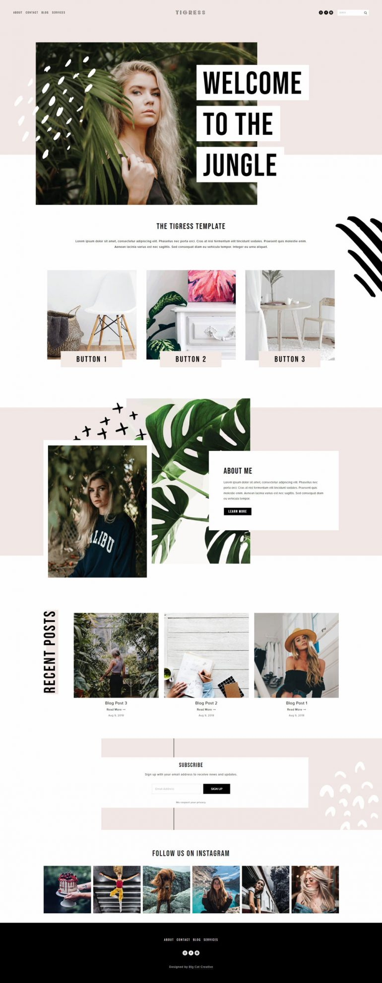 Squarespace Template: Tigress