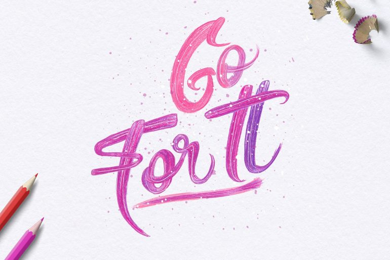 Pencils and Paint – Go For It
