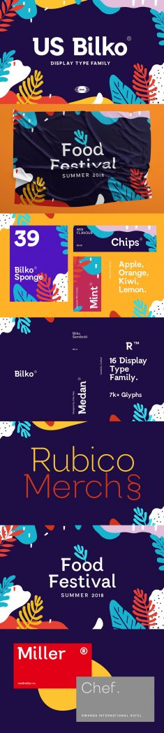 US Bilko – Semi-Slab Display Font
