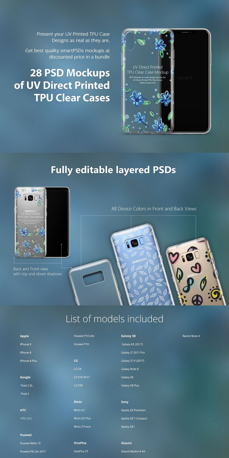 UV TPU Clear Phone Case Mockup
