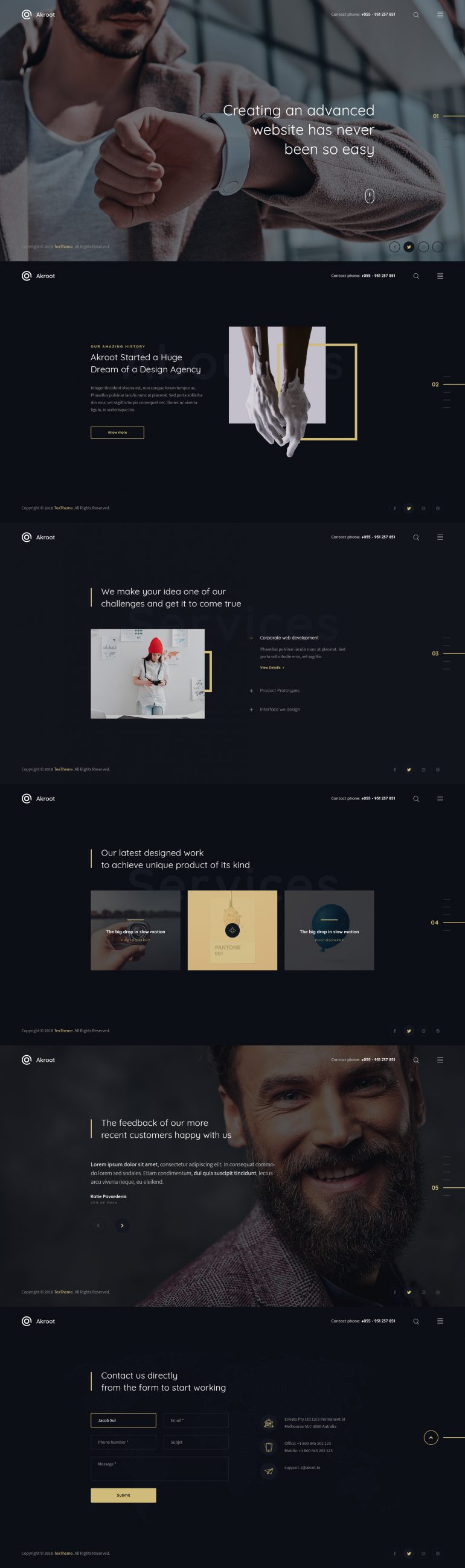 Akroot – Multi-Purpose Creative PSD Template