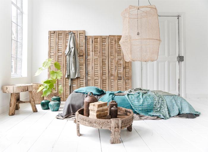 Comfort Wooden Bohemian Style Bedroom