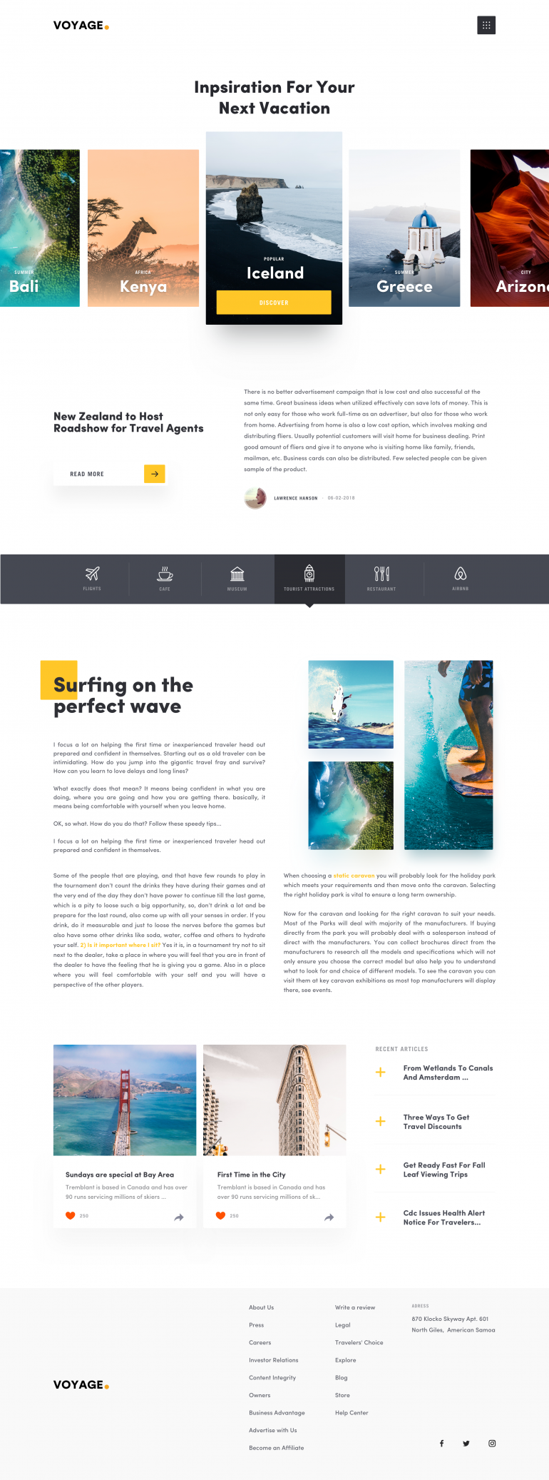 Travel Article Page by Faria