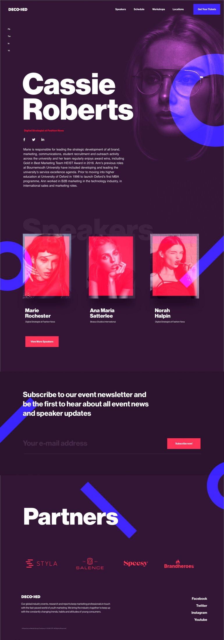 Youth Marketing Strategy Conference Website by Hrvoje Grubisic