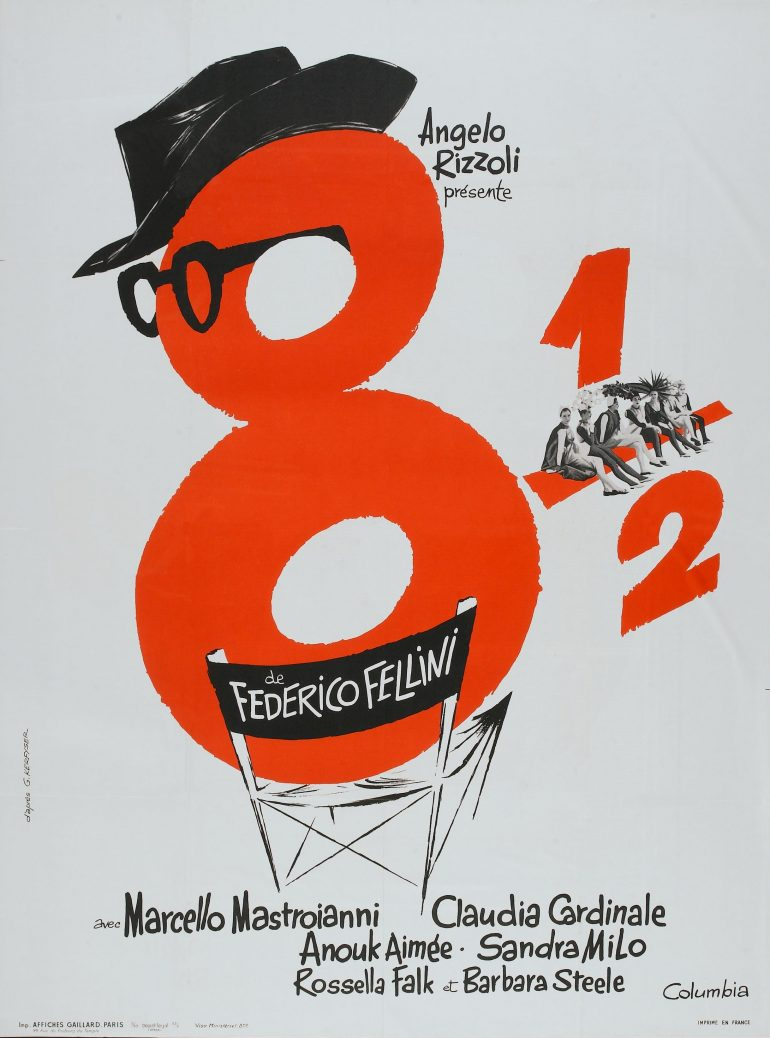 The Polish film poster for Fellini's 8 1/2