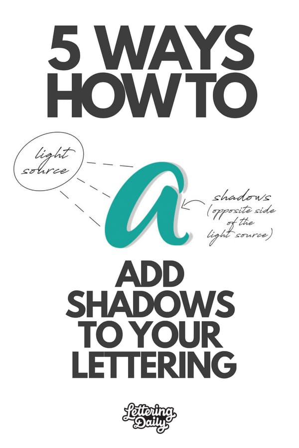 How To Shade Your Lettering (5 AWESOME Ways – 2018)