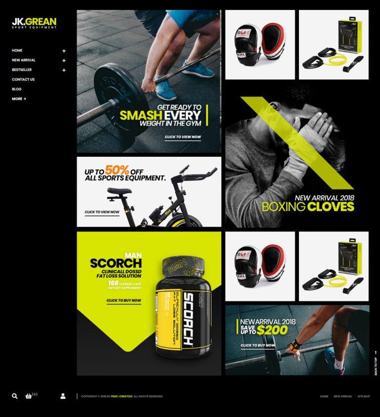 JkGrean – Fitness, Gym and Sport