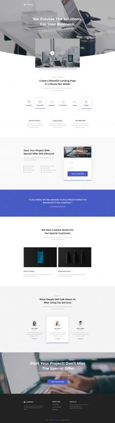 LeadPixel – Agency Unbounce Landing Page