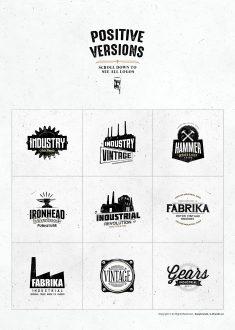 Vintage Industrial Logos Template