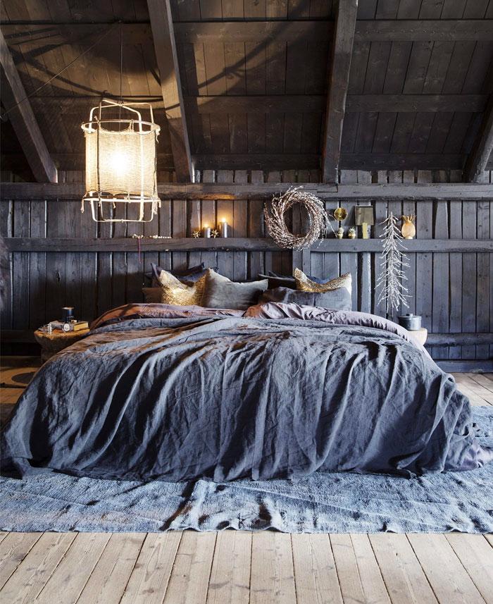 Dark Gray Boho Style Bedroom