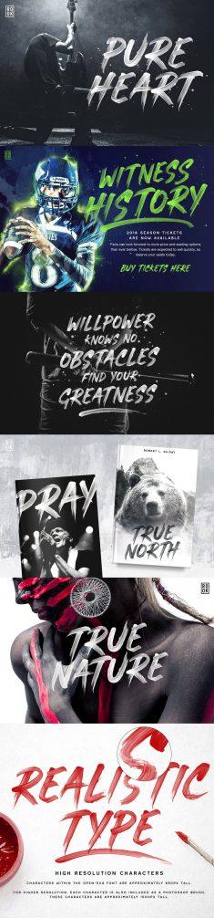 Pure Heart – OpenType SVG Brush Font