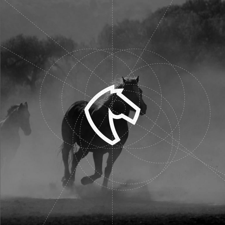 Horse logo Process