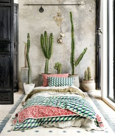 Colorful Bohemian Tufted Coverlet