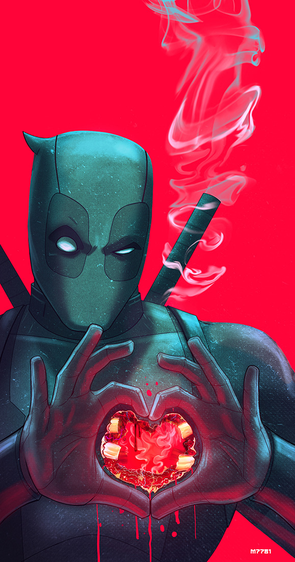 deadpool… have a heart by m7781