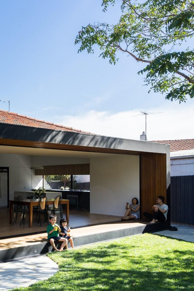 Brick Bungalow Addition by MODO Architecture: Open House