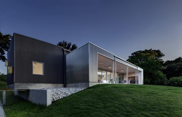 Corrugated Metal Clads Rio Vista Residence by Buchanan Architecture