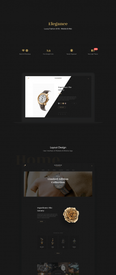 Elegance Fashion UI Kit