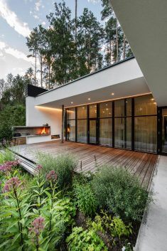 Expressive Modern Style House Blended with Nature