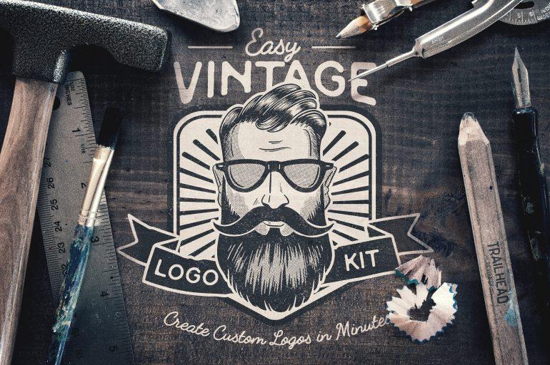 Easy Vintage Logo Creation Kit
