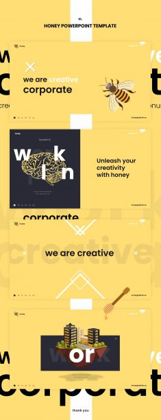 Honey Powerpoint Template