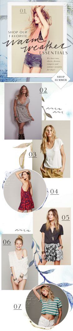 Wholesale email blasts created while working at Free People.