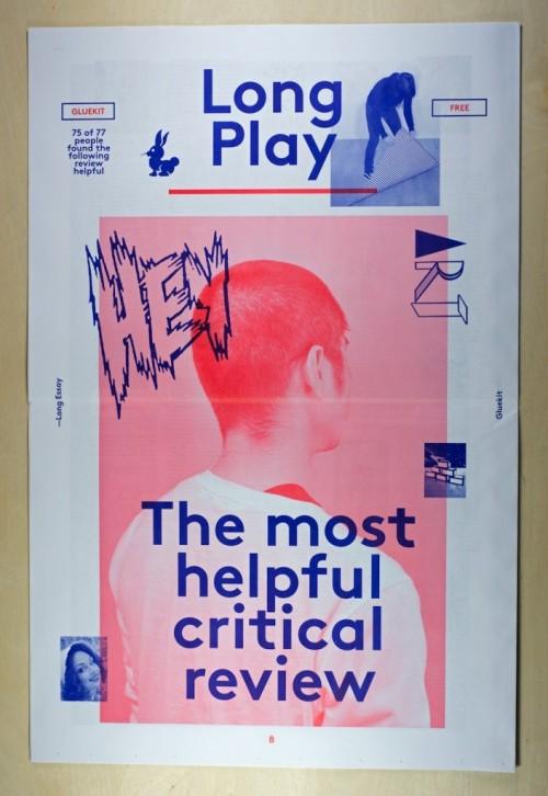 Long Play Newspaper, 2013 Design: Gluekit