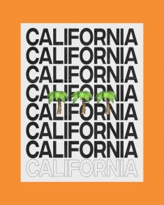 California Typography by Nathen McVittie