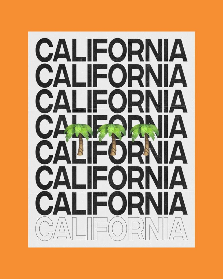 California Typography by Nathen McVittie