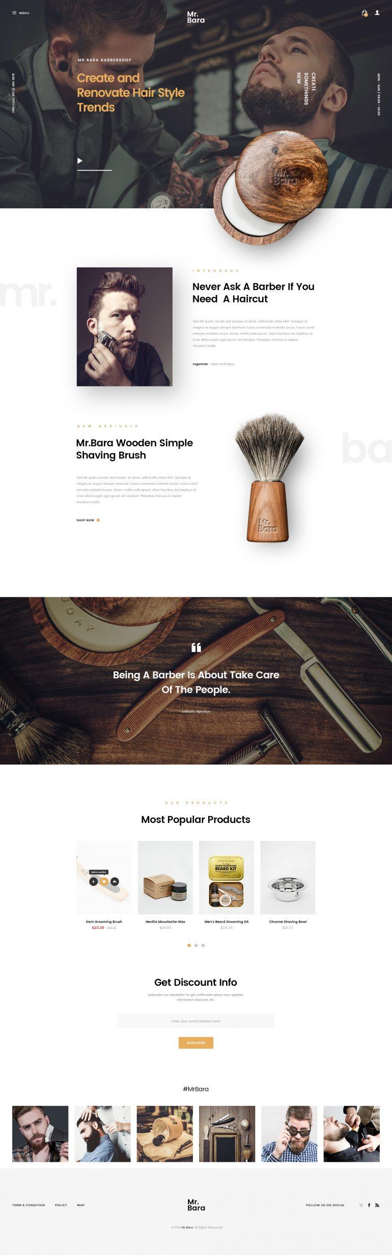 Mr.Bara | Barbershop Store