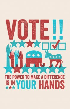 Vote Print by Allison Romero