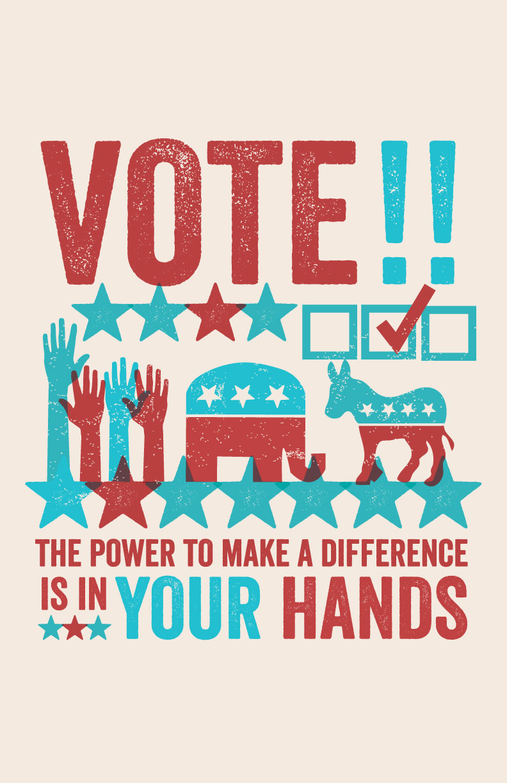 Vote Print by Allison Romero