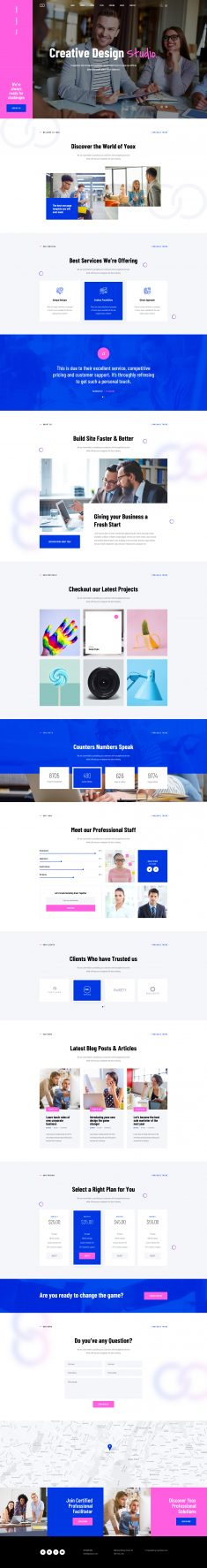 Yoox – Fine One Page Parallax PSD Template by Layerdrops