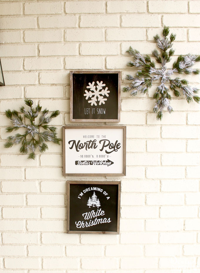 Black and White Christmas Porch – Outdoor Christmas Decorations