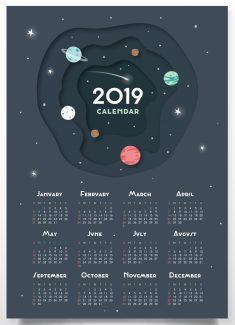Cute 2019 Printable Calendar