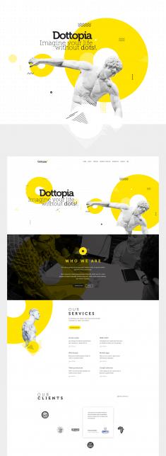 Dottopia web design UX/UI