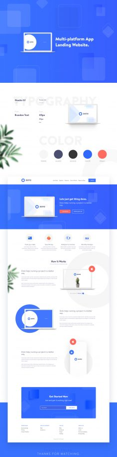 DOTO – Multi-platform App Landing