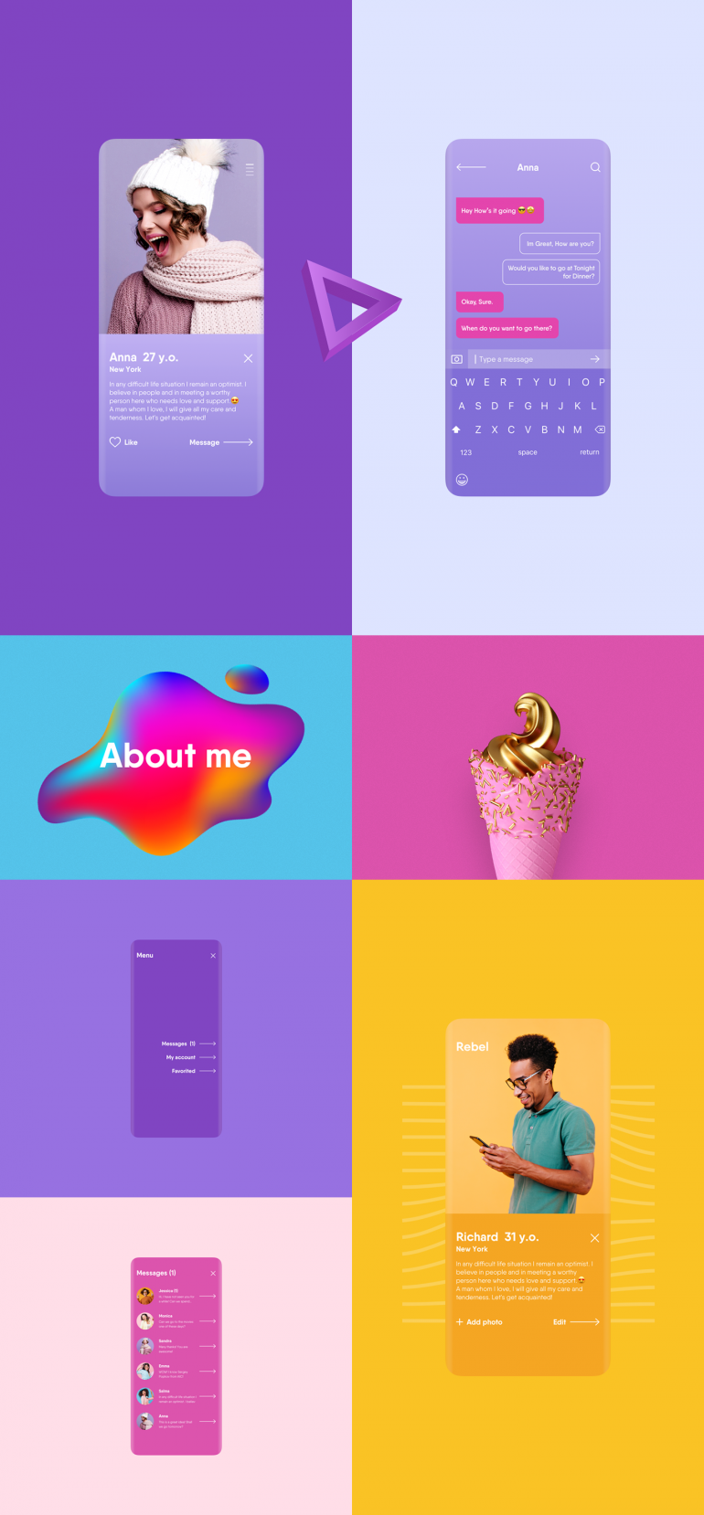 Rebel – Dating Mobile App | UX & UI