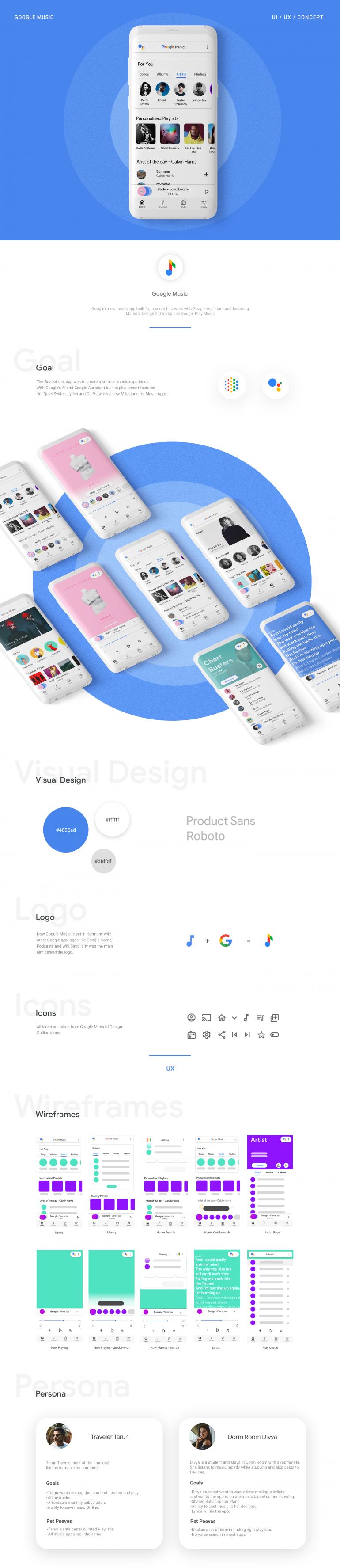Google Music Redesign | UI/UX
