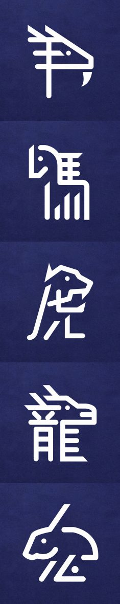 Chinese Zodiac Typography (Plenty x Visitors AW2014)